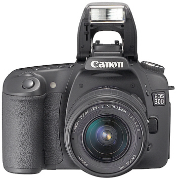 Canon EOS 30D Compared to EOS 20D, EOS 5D and Nikon D200