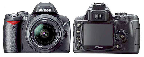 nikon d40 slr. a new Nikon DSLR, the D40.