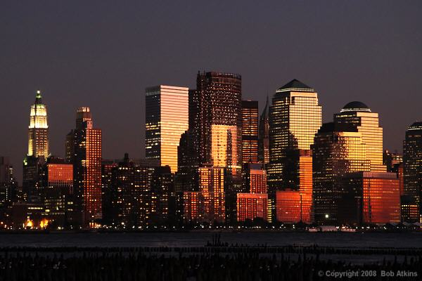 New York Skyline at Sunset (shot from New Jersey)