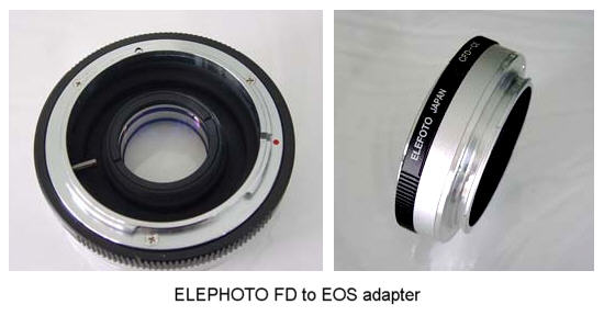 Canon EOS lens Adapters - Using Manual focus lenses on Canon